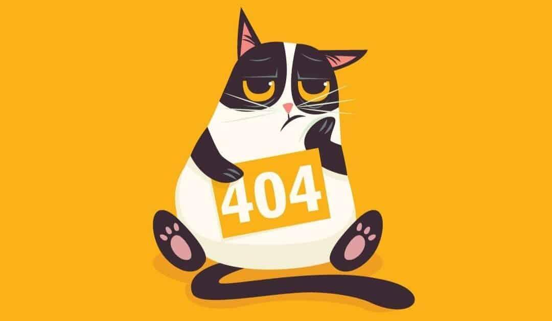 immagine di una pagina 404