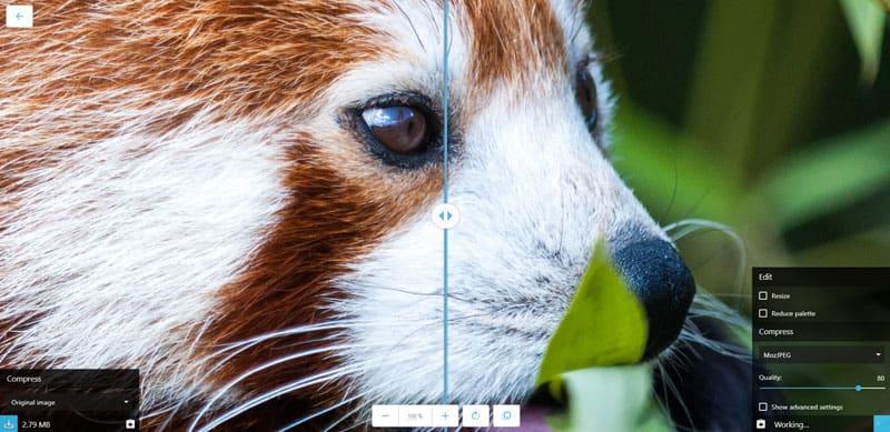 come ridurre peso il peso delle immagini su Squoosh