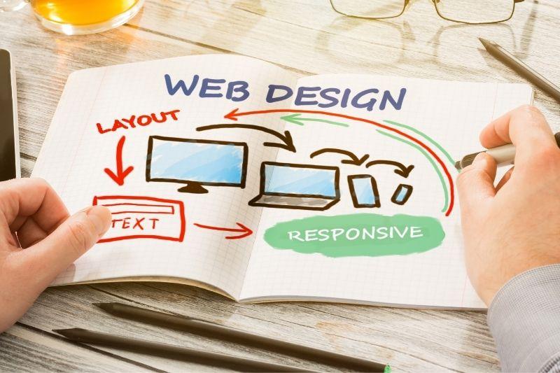 web design per layout responsive